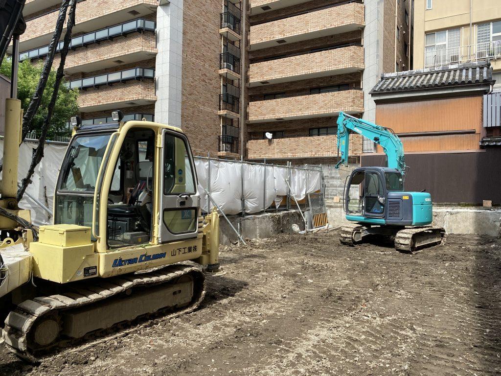 中京区の鉄骨造新築工事 現在進行中