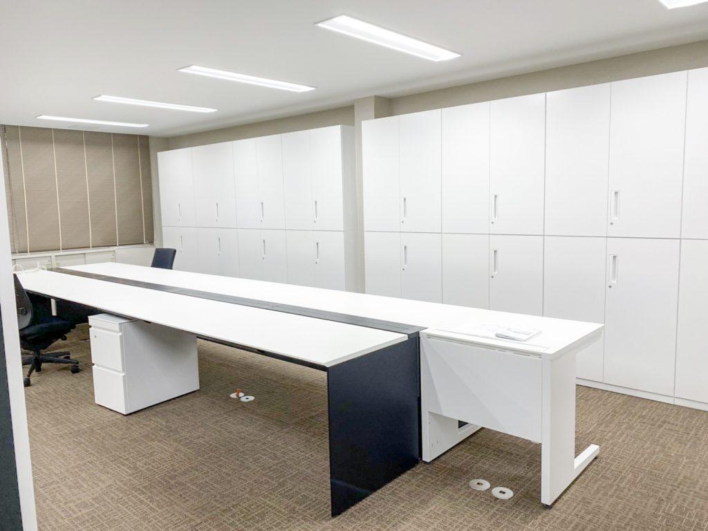 事務所の内装解体工事 1フロア完成