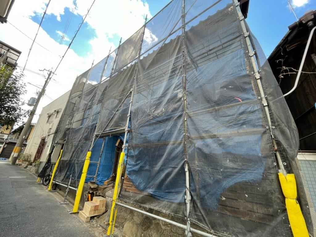 東山区 町家 改修工事 現在進行中