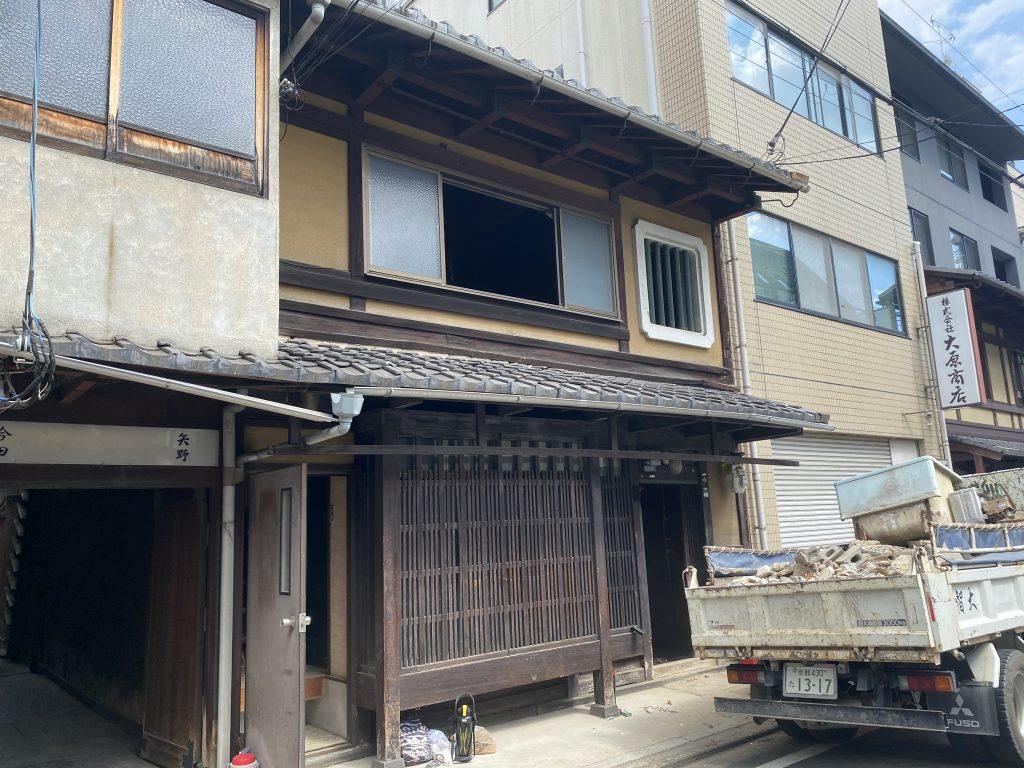 下京区御幸町の京町家改修工事 着工